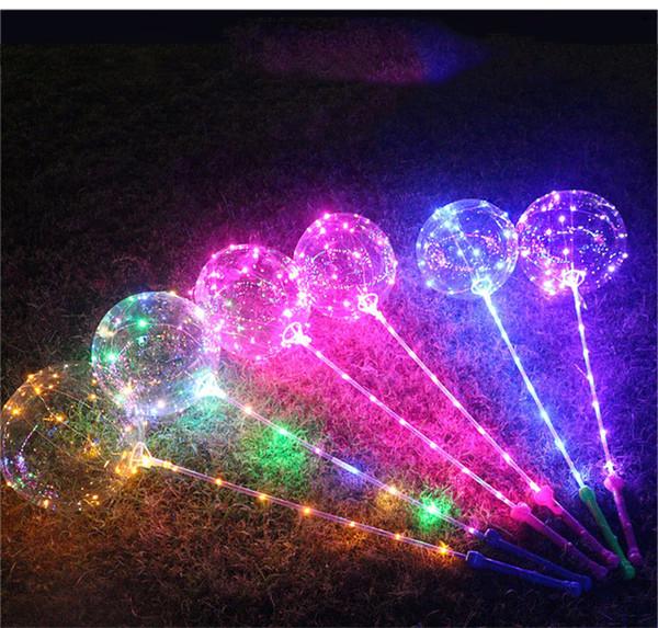 Bobo Ball LED Linie mit Stick Griff Wave Ball 3M String Balloons Blinklicht für Weihnachten Hochzeit Geburtstag Home Party Dekoration DHL