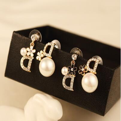 Famosa Marca Designer Stud Brincos Mulheres Rhinestone Ear Stud Jóias de Luxo Brinco Acessórios com Transporte Rápido