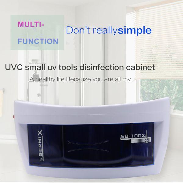 9 W Ozon UV Sterilizatör İşlevli Çift Dezenfeksiyon Nail Art Araçları Sterilizatör Kutusu Makine Havlu SPA Güzellik Salonu AB Tak