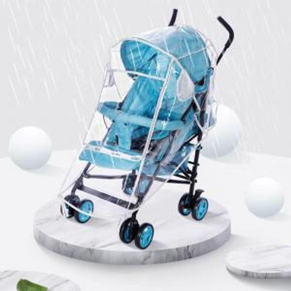 Transparent Stroller EVA Rain Cover Waterproof EVA Pram Cart Dust Raincoat For Baby Stroller Accessories Rain Wear OOA6175