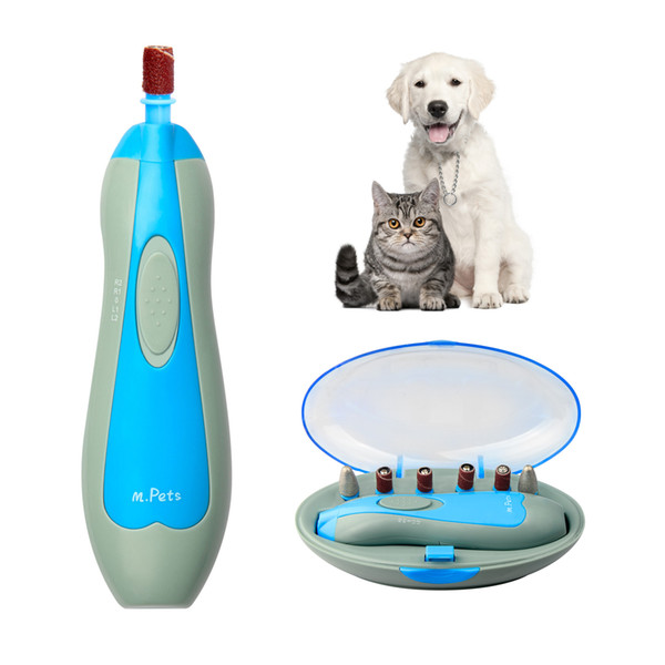 Dog Nail Grinder-M.Pets Electric Grinder, Dog Nail Kit, Nail Shaping and Trimming Kit, attaching 6 changeable grinding heads