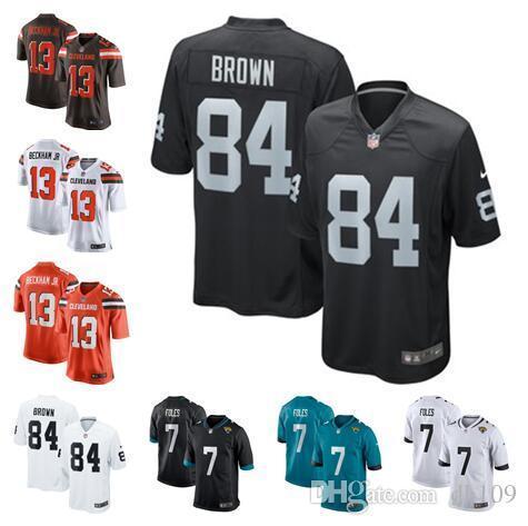 buy online f6159 884d1 2019 Antonio Brown Jersey Nick Foles Odell Beckham Jr Cleveland Oakland  Browns Raiders Marshawn Lynch Custom American Football Jerseys Cheap New  From ...