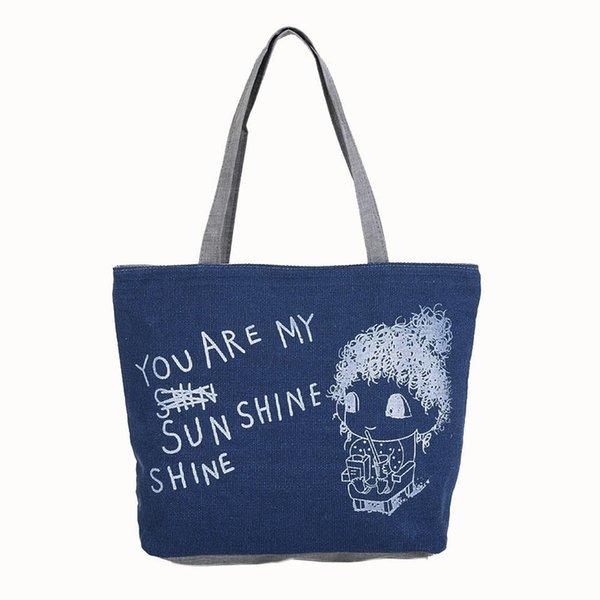 Cheap OCARDIAN Shoulder bag tote bag Handbags women's Cute Printing Canvas Bags Casual Handbag Drop shipping CSV A1121#30