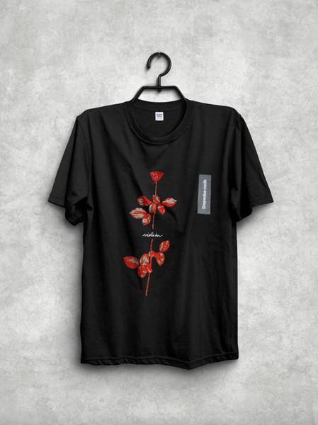 Винтаж 90-х DEPECHE MODE нарушитель Мировой тур репринт футболка размер 2018 высокое качество Марка мужчины футболка повседневная с коротким рукавом