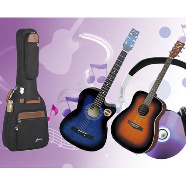 Professionelle tragbare robuste 38 39 40 41 Musik Akustikgitarrenkoffer Folk Balladry Bass Gitar Gig Bag weich gepolsterte Rucksackhülle