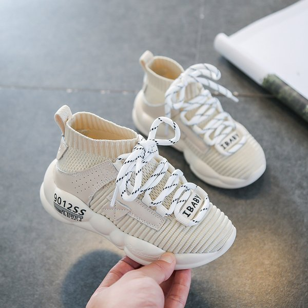 New Arrical kids shoes 2019 autumn new girls and boys sports Korean version of fly woven breathable boys running shoes girls casual shoes