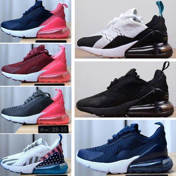 Acquista Nike Air Max 270 2019 New Baby Kids Scarpe Da Ginnastica Bambini Scarpe Da Pallacanestro Wolf Grigio Bambino Sneakers Sportive Ragazzo E