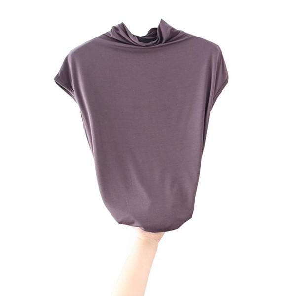 2019 Top Women's Casual T-Shirt Turtleneck Loose Sleeveless Tee Shirt Tunics Hot Summer Women's Clothing