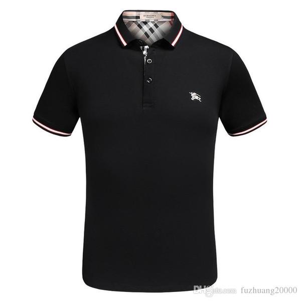 2019 novo verão quente homens e mulheres com o mesmo padrão personalidade bordados casal de manga curta T-shirt bottoming camisa botão conforto
