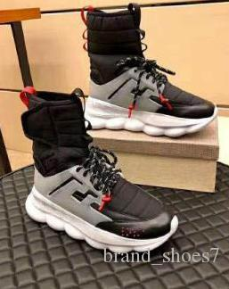2019 Newest Casual shoes Luxury Designer Medusa Chain Reaction Sneakers Trainer Casual Shoes Lightweight Chain-linked Rubber Sole C22