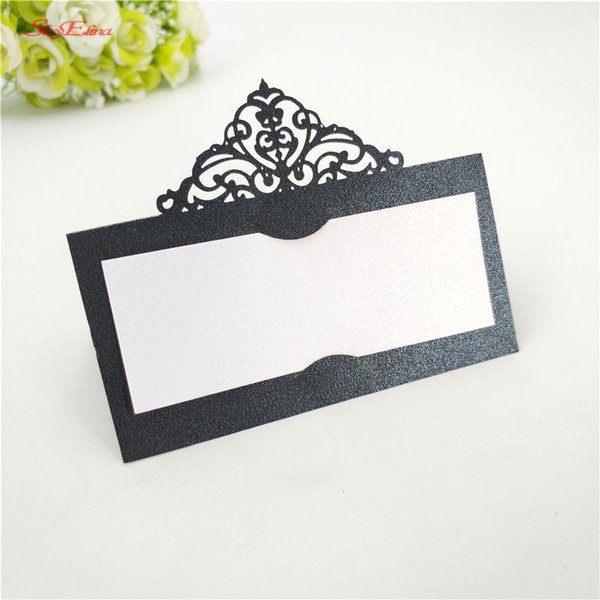 50Pcs Laser Cut Hollow Table Name Card Seat Card Wedding Table Decoration Place Birthday Party Supplies 7zSH873