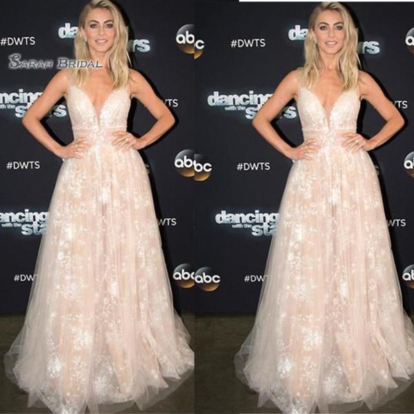 V-neck Appliques Tulle Prom Dresses Vestidos De Festa Evening Wear In Stock Hot Sales High-end Occasion Dress