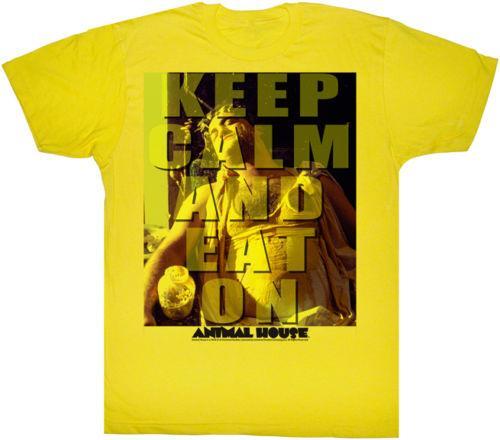 Animal House Keep Calm And Eat On Adult T Shirt Classic Movie Men Women Unisex Fashion tshirt Free Shipping