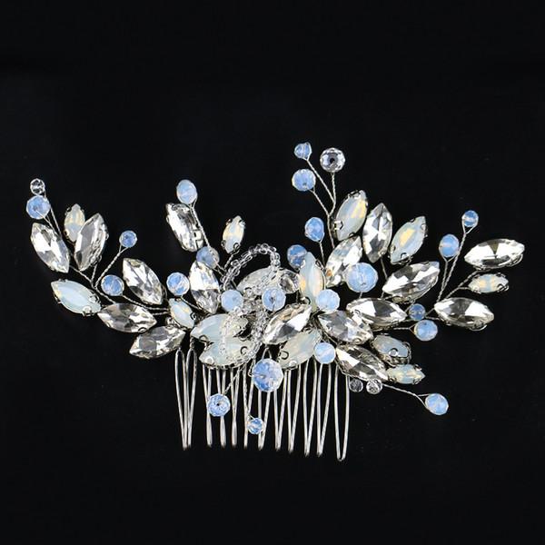 Wedding Bridal Bridesmaid Combs Tiaras Silver Handmade Rhinestone Pearl Headbands Luxury Hair Accessories Headpiece Tiara Jewelries Z08