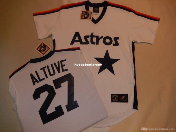 sale retailer a062d 53804 2019 Cheap Custom Mens MAJESTIC Houston #27 JOSE ALTUVE Throwback Baseball  Jersey NEW Mens Stitched Jerseys Big And Tall SIZE XS 6XL For Sale From ...