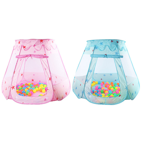 Outdoor Fun Sports Toy Tents Indoor Outdoor Polyester Play House Baby Ocean Ball Pit Pool Play Tent Kids Princess Hexagonal Tent Children