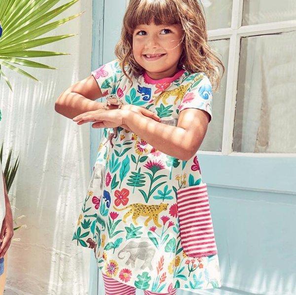 2019 дети одежда лето хлопок повседневная одежда девушки симпатичные платья девочка одежда 6 шт. / лот