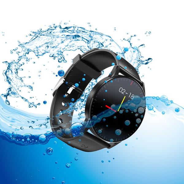 QS09 relógio inteligente IP67 Waterproof Heart Rate sono Monitoramento de Fitness Rastreador Music Control Sports Full HD Imprensa Tela