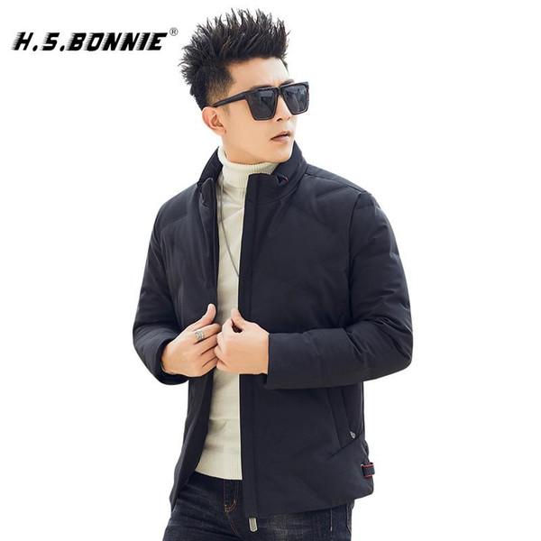 2019 H.S.Bonnie 새로운 겨울 다운 재킷 남성 코트 남성 겨울 자켓 옴므에 대한 인과 남성의 90 % 화이트 파카 오리 따뜻한 옷