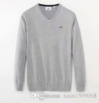 Men's round neck pullover cotton sweater sweater casual long sleeve sweater undershirt