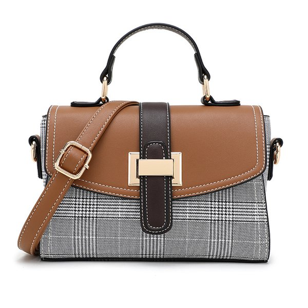 Neue Frau Satchel Single Schulter Diagonal Lock Small Square Cover Bag Concise Buckle Crossbody Messenger Bags