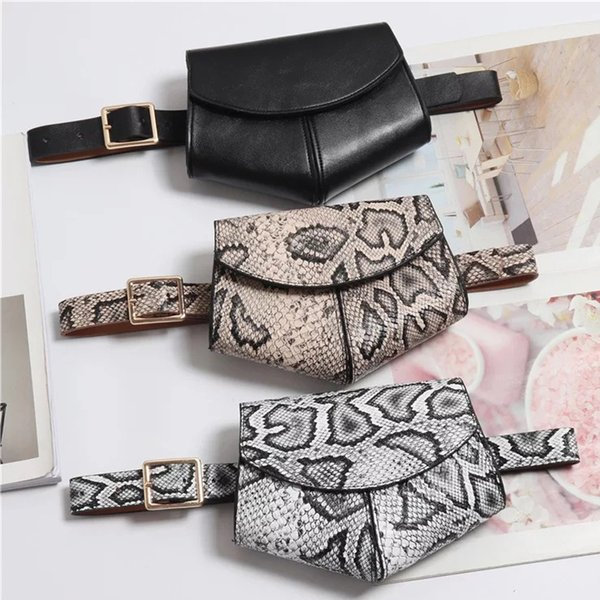 New Serpentine Fanny Pack Belt Pouch Borsa a tracolla in vita da donna Borsa da donna a tracolla in pelle a tracolla