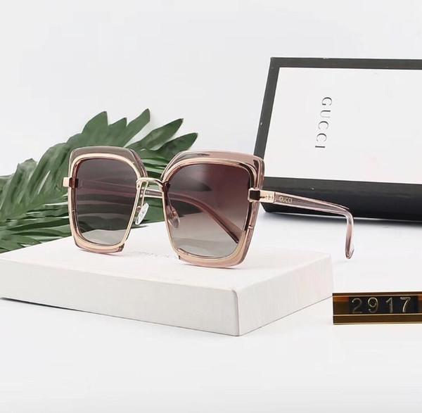 Luxus Sonnenbrille Designer Sonnenbrille Modemarke G2917 für Frau Brille Fahren UV400 Adumbral mit Box New Hot Hohe Qualität