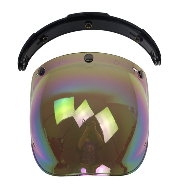 Motorcycle Helmet glass 3 pin buckle helmet windshield with flip up base DIY casco bubble windshield UV protection CE approved