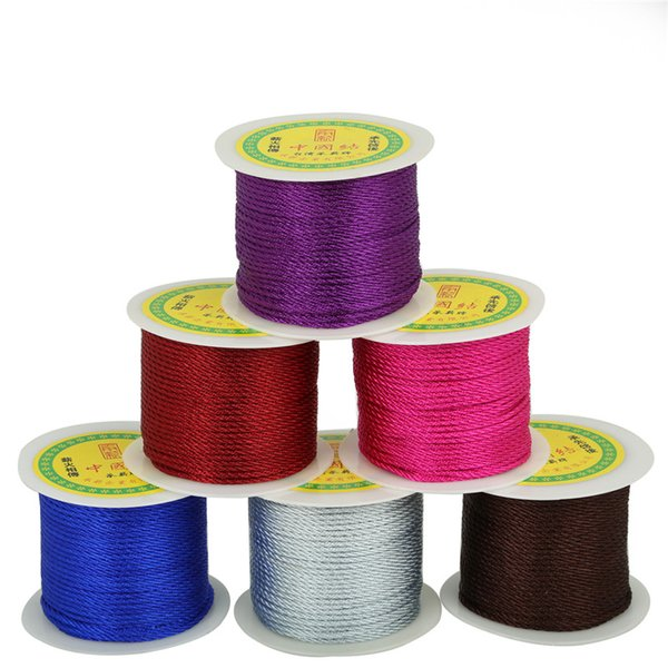 2mm 49 Yards Chinese Knot Cord String Cord Braided Rope For Jewelry Craft Making Bracelet Necklace DIY Jewelry Thread