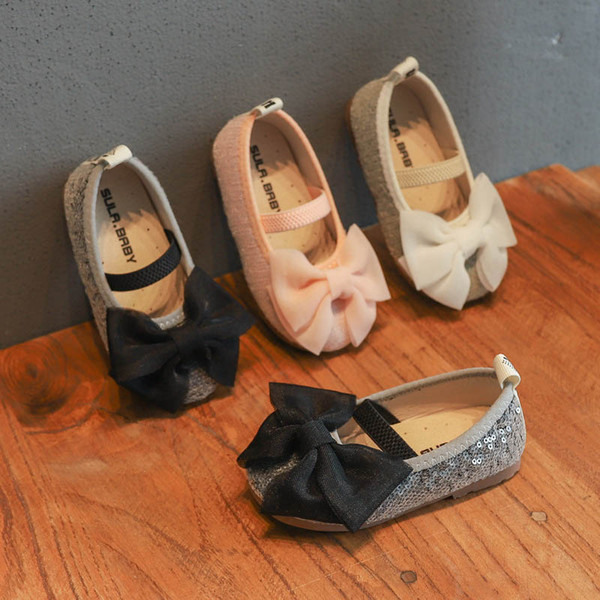 New Lace Bows kids shoes sequin princess kids designer shoes girls shoes Fashion Kids Dress Shoe Girls Footwear A7027