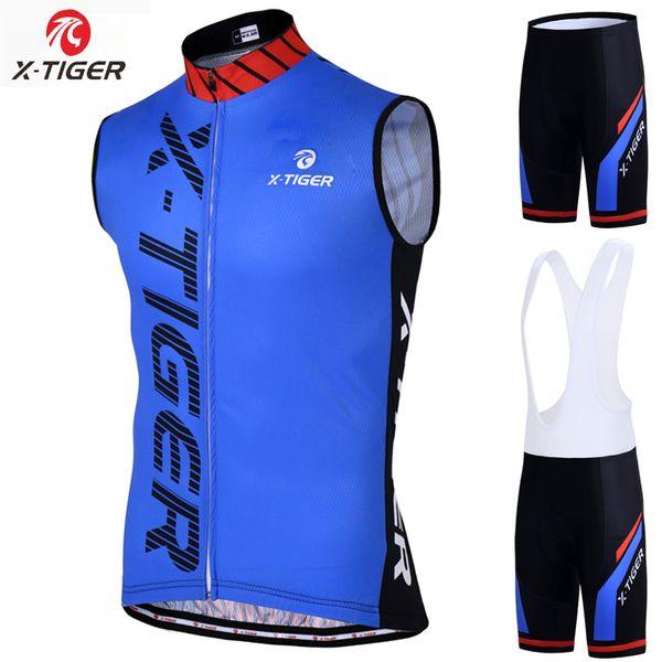X-Tiger Pro Cycling жилет Roupa Ciclismo Mountain Bike Одежда Sumemr рукавов Велоспорт Набор дышащая Велоспорт Одежда