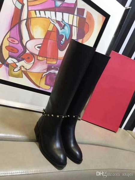 Designer Knee Boots Girls Designer Boots High Quality Winter Out Door Working Party Chirstmas Shoes Women Snow Boots DHL Free