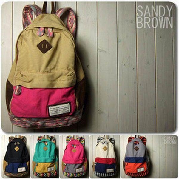 Wholesale- Fashion Japanese Men Women Canvas Backpacks Ladies Schoolbag School bags For Girls Boys Teenagers Casual Travel Bags