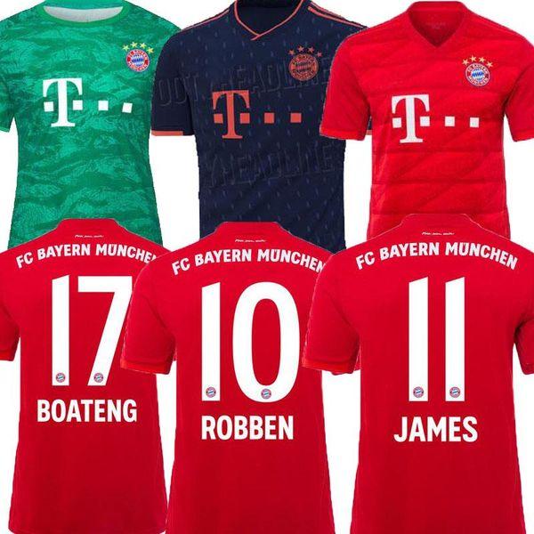 19 20 Bayern Münih Futbol Formaları üst tay James WAGNER LEWANDOWSKI 2019 2020 Futbol Gömlek TOLISSO ROBBEN MULLER KIMMICH ücretsiz kargo