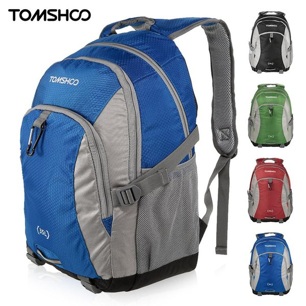 sport bag TOMSHOO 35L Camping Backpack Bags Outdoor Sport Backpack Nylon Pack Travel Nylon Outdoor Leisure School Backpacks Bags