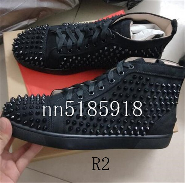 2019 new fashion high and low help multicolored flash red men's and women's multi-color leather shoes factory lowest price 35-46
