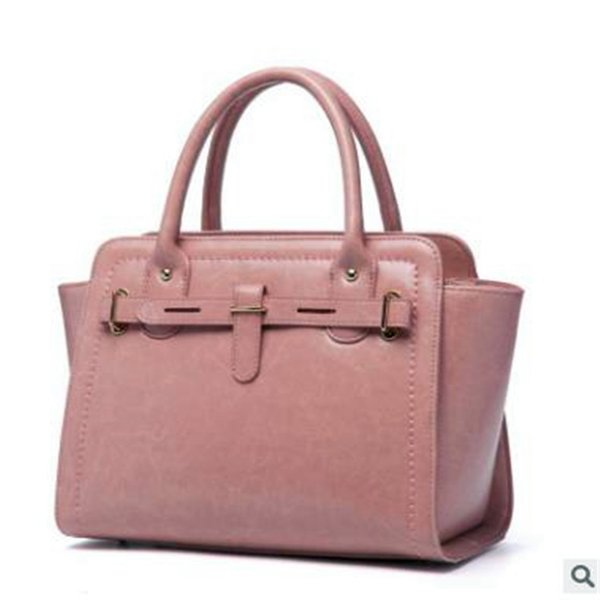 lady handbags Female Package 2018 New Pattern Genuine Leather Imported Oil Wax