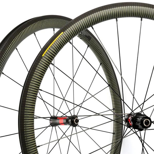 New Design Miracle 100% Kevlar Carbon Fiber Wheels 700C Road Carbon Bike  Wheels Clincher Rims 38mm 25mm Wide Wheelset Bike Wheel Carbon Bike Wheels