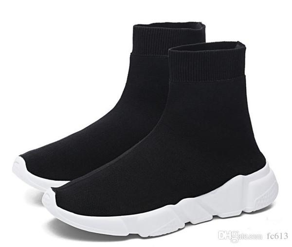 2018 HOT NEW velocidade Meia de alta qualidade Speed Trainer sapatos para homens e mulheres sapatos casuais Velocidade estiramento-malha sapatos Mid tamanho sneakers Eur 36-45
