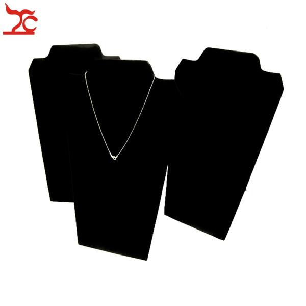 Schmuckständer Halskette Halter Halskette Platte in schwarzem Samt Hals Ständer Staffelei für Juweliergeschäft eingewickelt