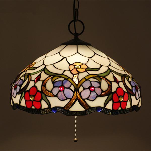 Araña de cristal de lujo con flores de cristal europeas con accesorios de luz de interruptor de alambre para sala de estar lámpara Sudeste asiático Bar Cafe Luz de lámpara