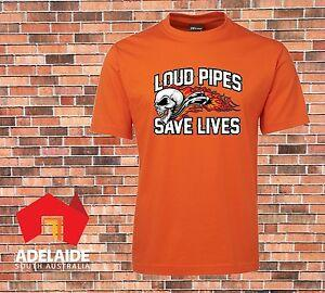 JB 039 s T shirt DTG Printed Loud Pipes Saves Lives Sizes S to 7XL Motorcycle Cars