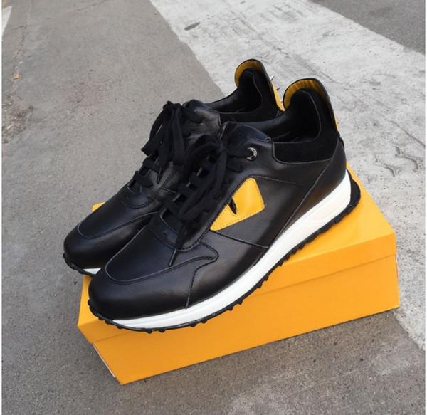 19SS Top-Qualität FD Luxus FUN FUR Designer-Sneaker Schuhe aus echtem Leder Geschenk Männer Frauen Racer Hot Verkauf Sport lässige New