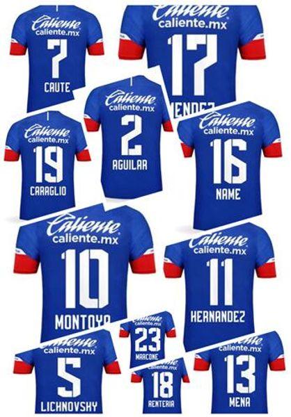 Custom 18-19 mens Thai Soccer Pullover di calcio, su misura 18 Renteria 10 Montoya 13 Mena 5 Lichnovsky 23 Marcone 5 Lichnovsky Soccer Wear