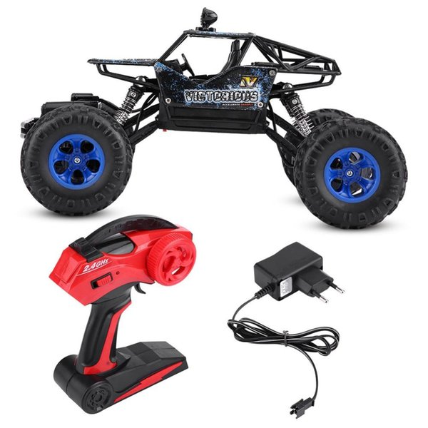 Double Motors Remote Control Four-Wheel Drive Vehicle Driving Car 2.4GHz 1/16 Scale Drive Bigfoot Car RC Model Off-road Car Toy