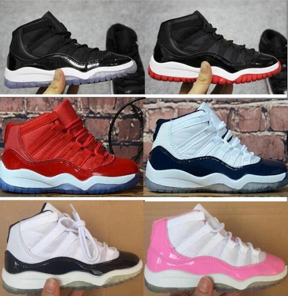 top popular Top quality Kids 11 11s Space Jam Bred Concord Gym Red Basketball Shoes Children Boy Girls White black Midnight Sneakers Toddlers 2020