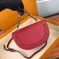 Le donne di lusso stilista nuova L borse messenger bag in pelle catene Borse temperamento borse H semicerchio borsa diagonale Lf143 #