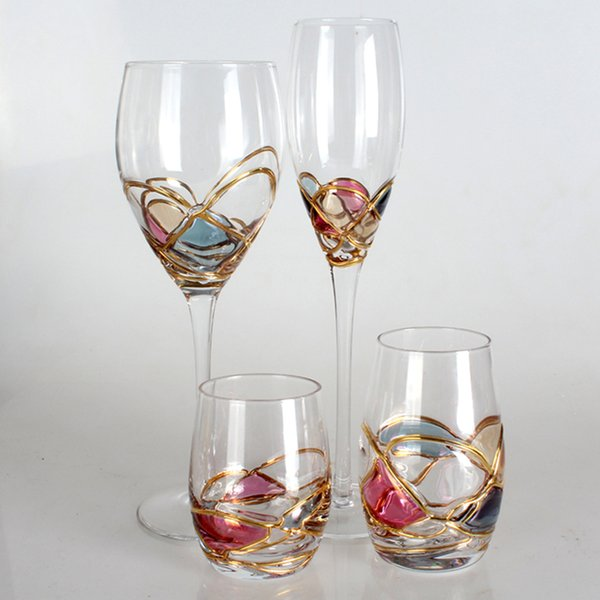 Lead-free crystal wine glass Champagne Flutes Glass cup transparent goblet Party bar wine home Drinkware