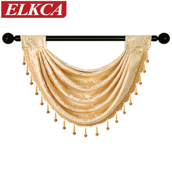 top popular 1 Piece Valance European Royal Valance Curtains for Living Room Window Curtains for Bedroom Kitchen 2021