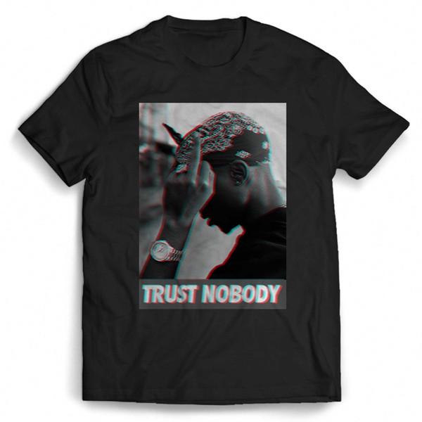 Тупак 2pac Шакур доверять никому хип-хоп мужчина / женщина футболка смешно 100% хлопок футболка